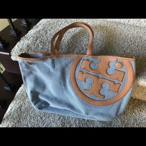 Tory Burch Ella style Canvas Tote Bag BEAUTIFUL!
